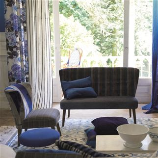 brera fino - indigo fabric | Designers Guild Essentials