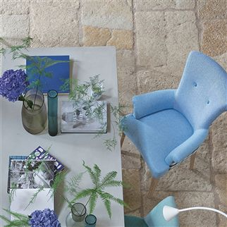 brera treccia - pale jade fabric | Designers Guild Essentials