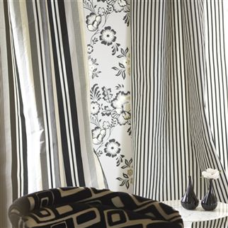 franchini - noir fabric | Designers Guild