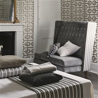 rheinsberg - black and white wallpaper | Designers Guild
