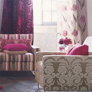ombrione - chalk fabric | Designers Guild