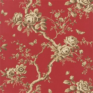 ashfield floral - balmoral red