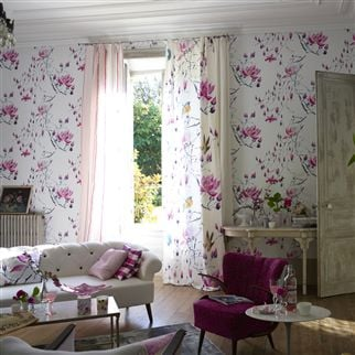 madame butterfly - peony wallpaper | Designers Guild
