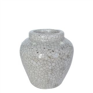 White Ginger Pot