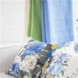 brera lino - cerulean fabric | Designers Guild Essentials