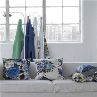brera lino - cobalt fabric | Designers Guild Essentials