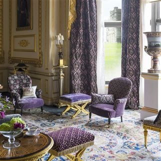 charles II velvet - amethyst fabric | Royal Collection
