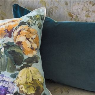 Cassia Kingfisher Cushion | Designers Guild