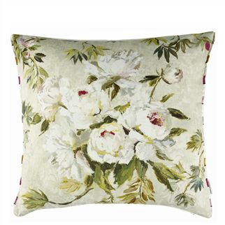 Floreale Natural Throw Pillow