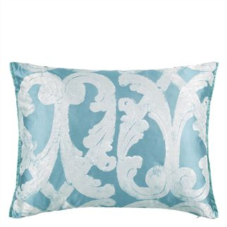Portico Aqua Throw Pillow