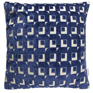 Pugin Indigo Cushion