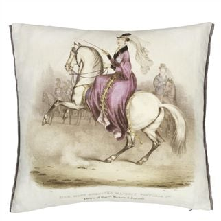 Queen Victoria Amethyst Decorative Pillow