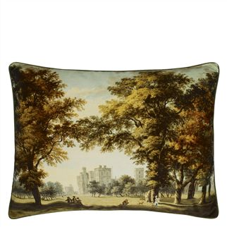 Windsor Velvet Moss Decorative Pillow