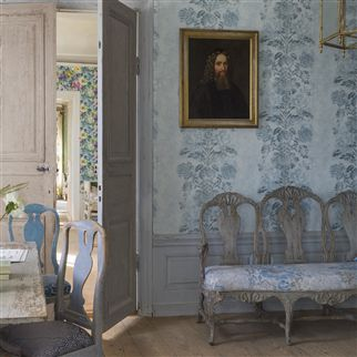 damasco - delft wallpaper | Designers Guild