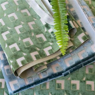 pugin - emerald fabric | Designers Guild