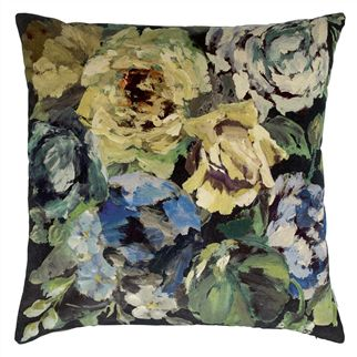 Bloomsbury Rose Indigo Cushion