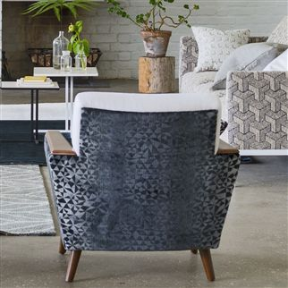 voysey - graphite fabric | Designers Guild