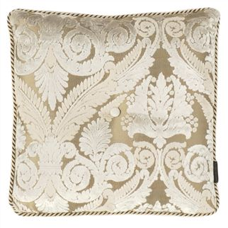 Stuart Damask Ivory Throw Pillow