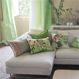 Brera Lino Leaf Cushion | Designers Guild