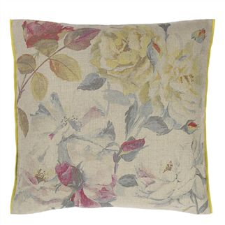 Eglantine Tuberose Decorative Pillow