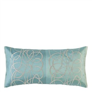 marquisette celedon cushion