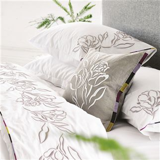 Pomander Dove Embroidered Sheets & Pillowcases