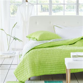 Chenevard Wild Lime & Pale Mint Quilts & Shams