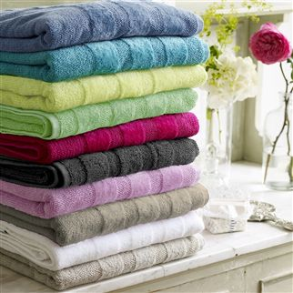 Coniston Pale Jade Towels | Designers Guild