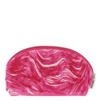 Aurelia Fuchsia Flocked Pencil Case