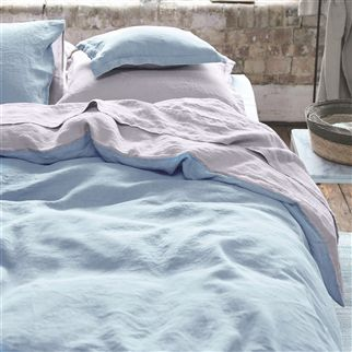 Biella Summer Blue & Pale Thistle Bed Linen