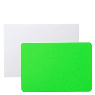 Green Cards With Envelopes Pack of 5