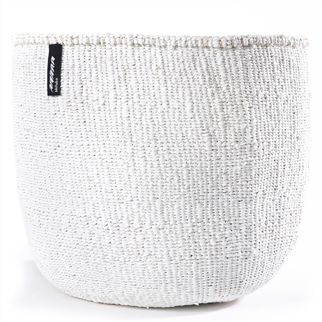 White Large Kiondo Basket