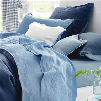 Biella Midnight & Wedgwood Bedding
