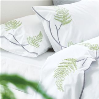 Tulipani Graphite Embroidered Sheets & Pillowcases