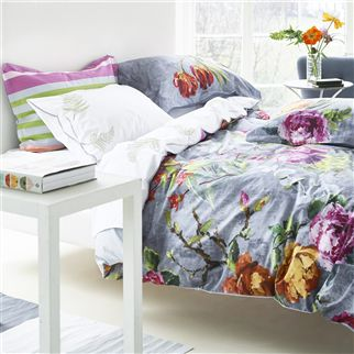 Tulipani Graphite Bed Linen