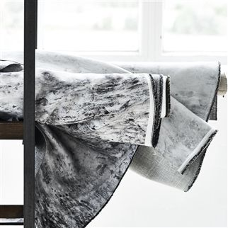 Garda Graphite Fabric | Designers Guild Essentials