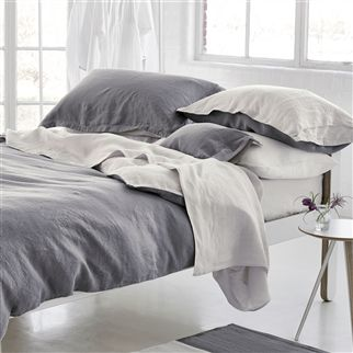 Biella Elephant Grey & Birch Bed Linen