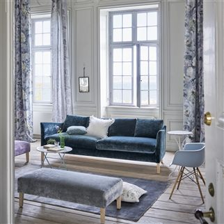Pavia Indigo Fabric | Designers Guild Essentials