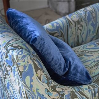 Pavia Cobalt Fabric | Designers Guild Essentials