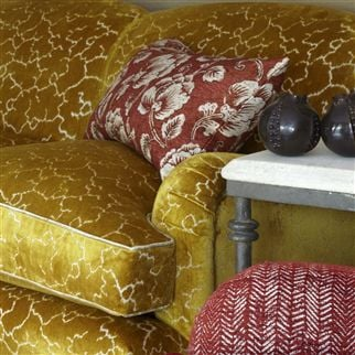 Torca Ochre Fabric | William Yeoward