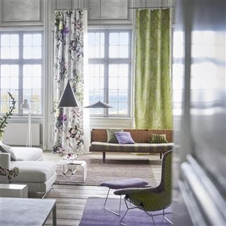 Majella Leaf Fabric | Designers Guild