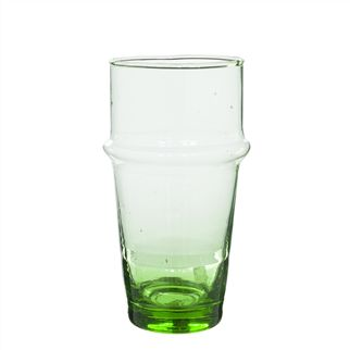 Traditional Moroccan Green Medium Glass