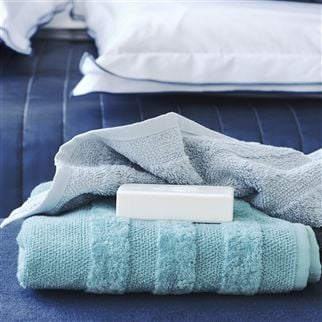 Coniston Celadon Towels | Designers Guild