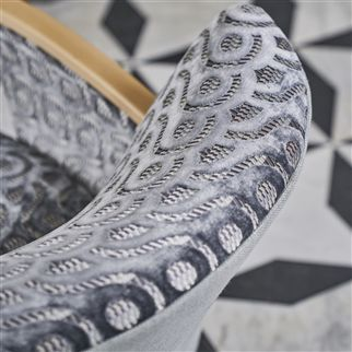 Latticino Graphite Fabric | Designers Guild