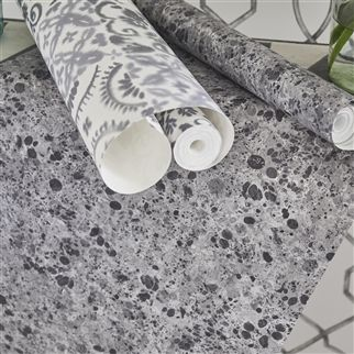 Lustro Zinc Wallpaper | Designers Guild