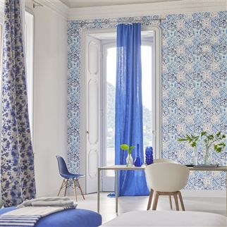 Brera Lino Porcelain Fabric | Designers Guild Essentials
