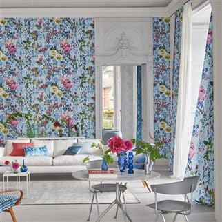 Majolica Cornflower Wallpaper | Designers Guild