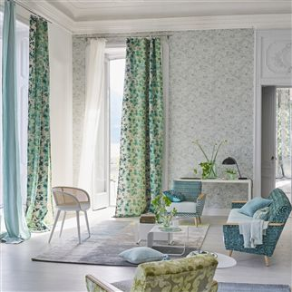 Strato Emerald Fabric | Designers Guild