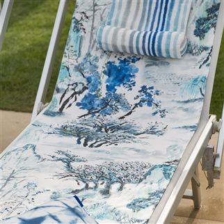 Palasari Outdoor Cobalt Fabric | Designers Guild