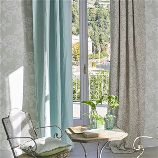 Brera Lino Sea Mist Fabric | Designers Guild Essentials